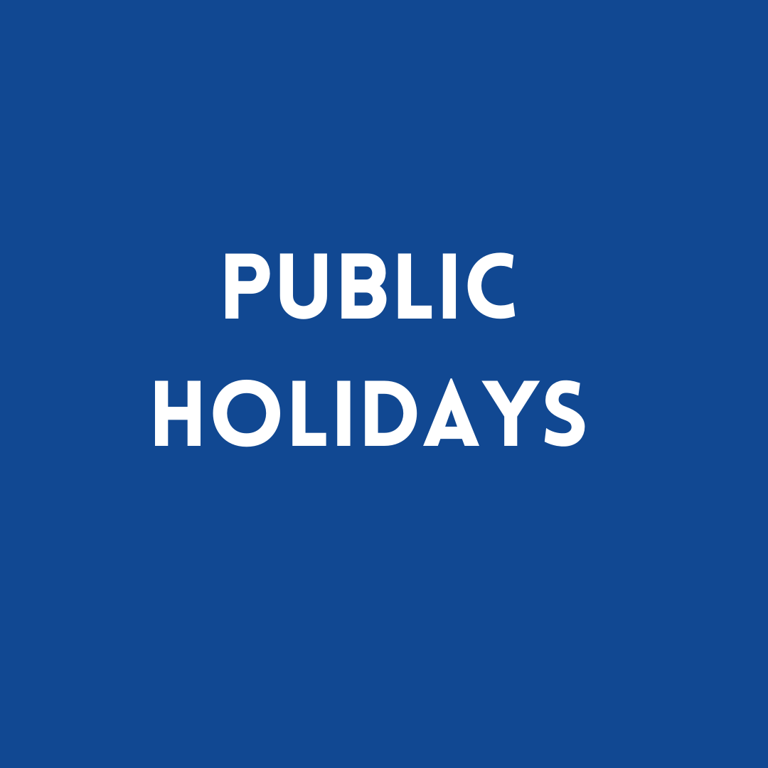 public holidays in mansfield